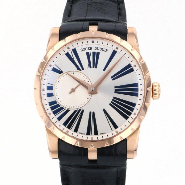 ロジェ・デュブイ ROGER DUBUIS エクスカリバー 42 RDDBEX0351 シルバー文字盤 メンズ 腕時計 【中古】
