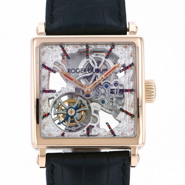 ロジェ・デュブイ ROGER DUBUIS その他 ゴールデンスクエア トゥールビヨン 世界限定28本 G40-GS-RG-S シルバー文字盤 メンズ 腕時計 【中古】
