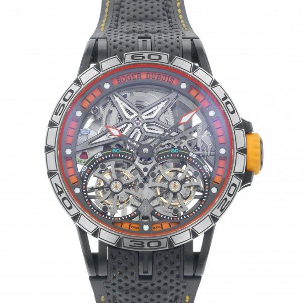 ロジェ・デュブイ ROGER DUBUIS エクスカリバー スパイダー ダブルフライングトゥールビヨン RDDBEX0589 グレー文字盤 メンズ 腕時計 【中古】