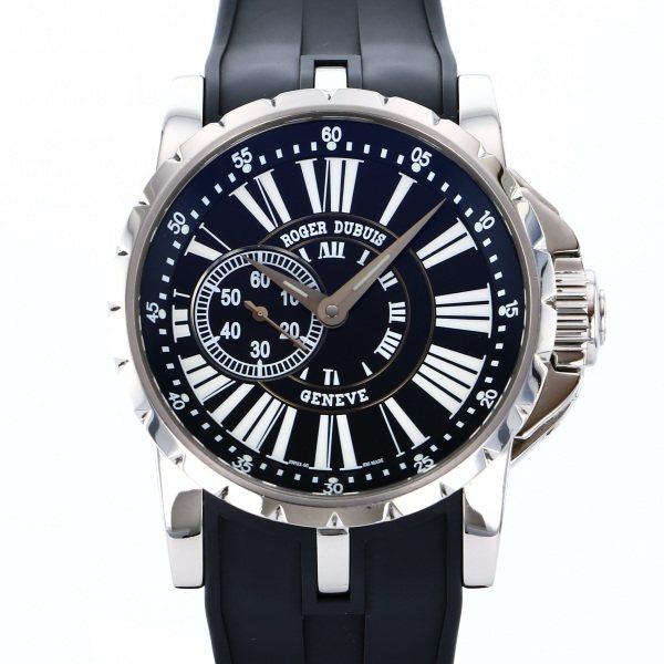 【期間限定ポイント5倍 5/5~5/31】 ロジェ・デュブイ ROGER DUBUIS エクスカリバー EX42.77.99.71R ブラック文字盤 メンズ 腕時計 【中古】