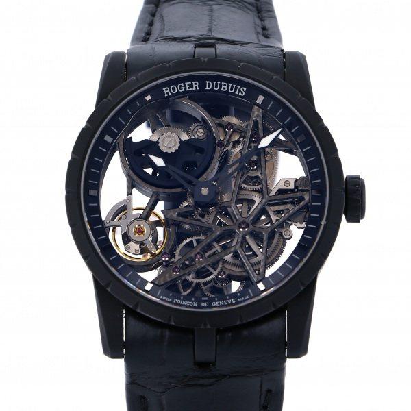 ロジェ・デュブイ ROGER DUBUIS エクスカリバー 42 オートマティック スケルトン RDDBEX0553 ブラック/グレー文字盤 メンズ 腕時計 【中古】