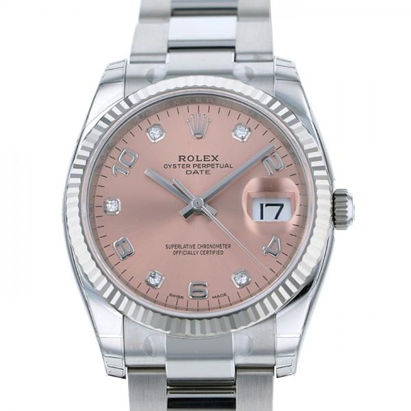 ロレックス ROLEX オイスターパーペチュアル デイト 115234G ピンク文字盤 メンズ 腕時計 【新品】