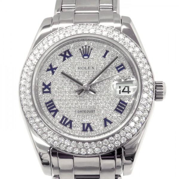 ロレックス ROLEX デイトジャスト 81339ZER 全面ダイヤ文字盤 レディース 腕時計 【中古】