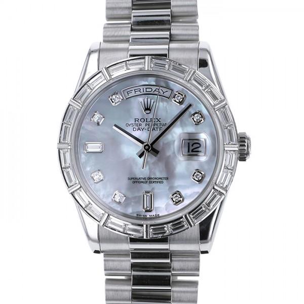 ロレックス ROLEX デイデイト 18366A ホワイトシェル文字盤 メンズ 腕時計 【中古】
