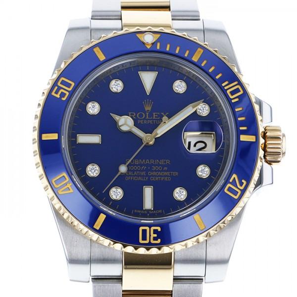 ロレックス ROLEX サブマリーナ デイト 116613GLB ブルー文字盤 メンズ 腕時計 【中古】
