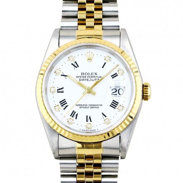 【人気No.1】 ロレックス メンズ 腕時計 ROLEX デイトジャスト ホワイト文字盤 16233G ホワイト文字盤 腕時計 メンズ, 雲南市:e87774aa --- cpps.dyndns.info