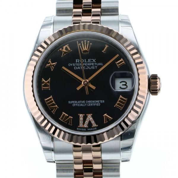 ロレックス ROLEX デイトジャスト 178271 ネイビー文字盤 レディース 腕時計 【新品】