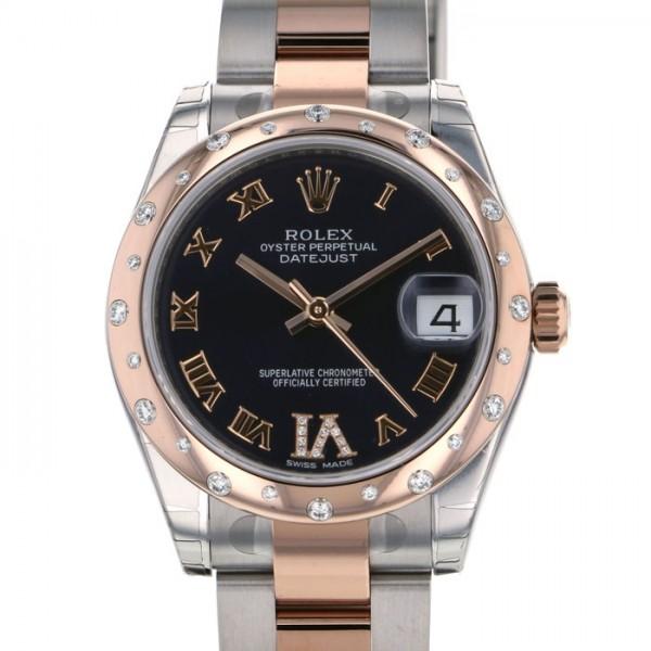 ロレックス ROLEX デイトジャスト 31 178341 ブラック文字盤 レディース 腕時計 【新品】