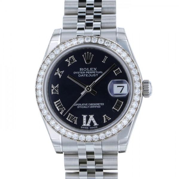 ロレックス ROLEX デイトジャスト 31 178384 パープルローマ(VIダイヤ)文字盤 レディース 腕時計 【新品】