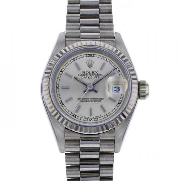 ロレックス ROLEX デイトジャスト 69179 シルバー文字盤 レディース 腕時計 【中古】