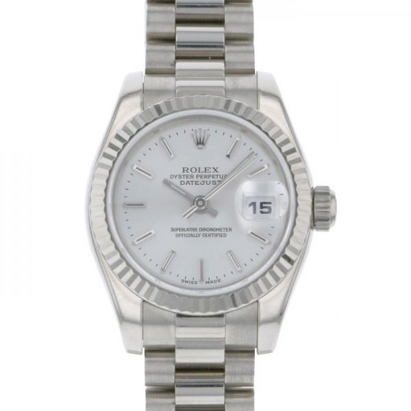 【期間限定ポイント5倍 5/5~5/31】 ロレックス ROLEX デイトジャスト 179179 シルバー文字盤 レディース 腕時計 【中古】