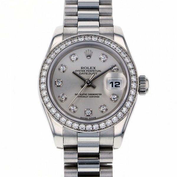 ロレックス ROLEX デイトジャスト 179136G シルバー文字盤 レディース 腕時計 【中古】