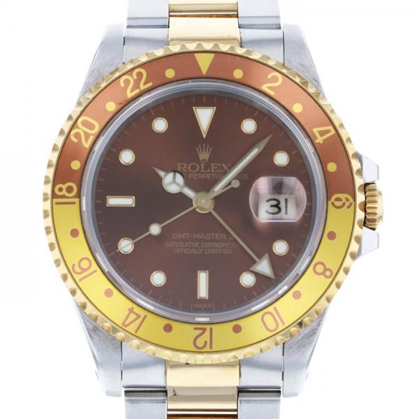再再販! ロレックス ROLEX GMTマスター II 16713 ブラウン文字盤  腕時計 メンズ, 絵と額縁 京都巧 755a0026