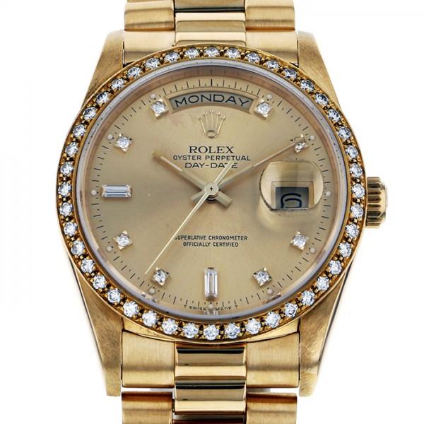ロレックス ROLEX デイデイト 18348A シャンパン文字盤 メンズ 腕時計 【中古】