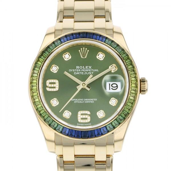 ロレックス ROLEX デイトジャスト パールマスター39 86348SABLV グリーン文字盤 メンズ 腕時計 【中古】