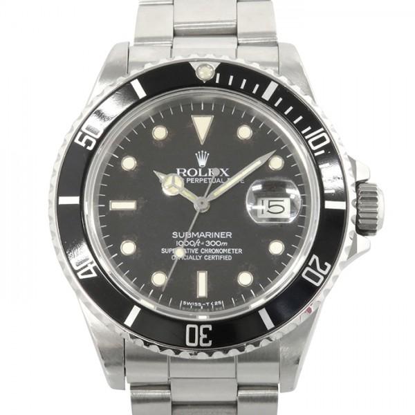 【全品 ポイント10倍 4/9~4/16】ロレックス ROLEX サブマリーナ デイト 16800 ブラック文字盤 メンズ 腕時計 【中古】