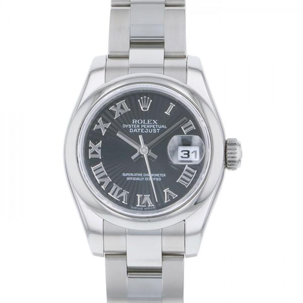 ロレックス ROLEX デイトジャスト 179160 ブラック文字盤 レディース 腕時計 【中古】
