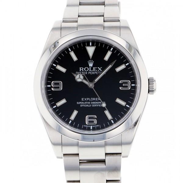 65a2118cb2 ロレックス ROLEX エクスプローラーI 214270 ブラック文字盤 メンズ 腕時計 【中古】