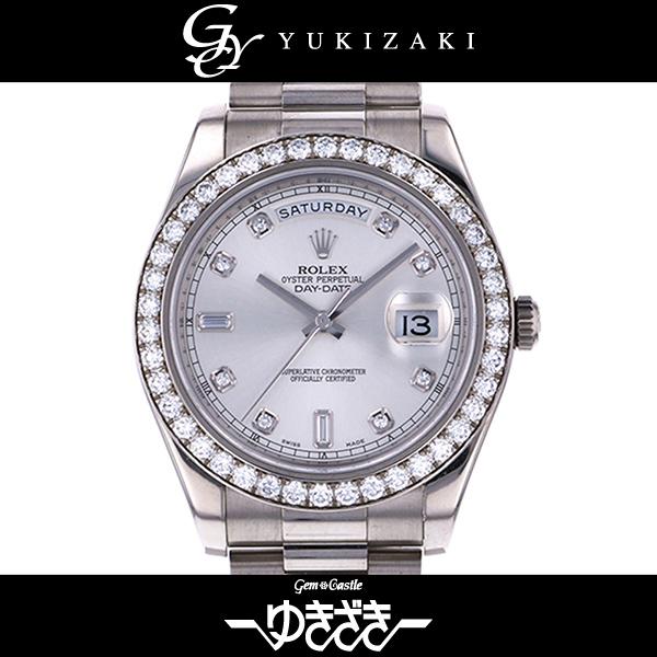 ロレックス ROLEX デイデイトII 218349A シルバー文字盤 メンズ 腕時計 【中古】
