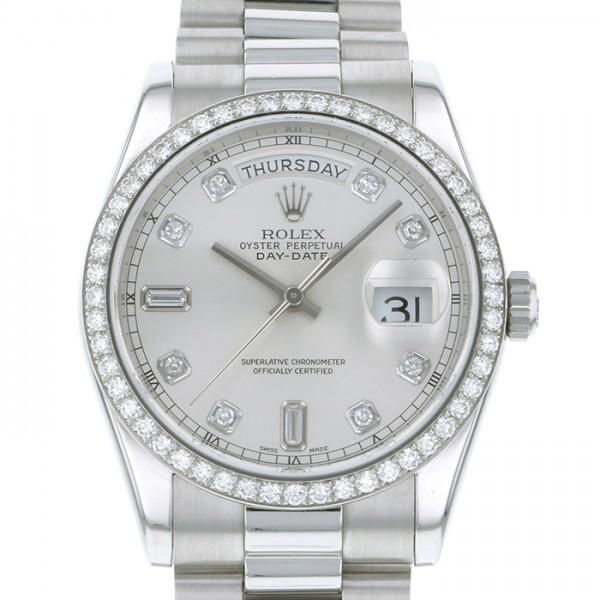 ロレックス ROLEX デイデイト 118346A シルバー文字盤 メンズ 腕時計 【中古】