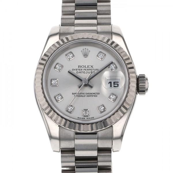 ロレックス ROLEX デイトジャスト 179179G シルバー文字盤 レディース 腕時計 【中古】