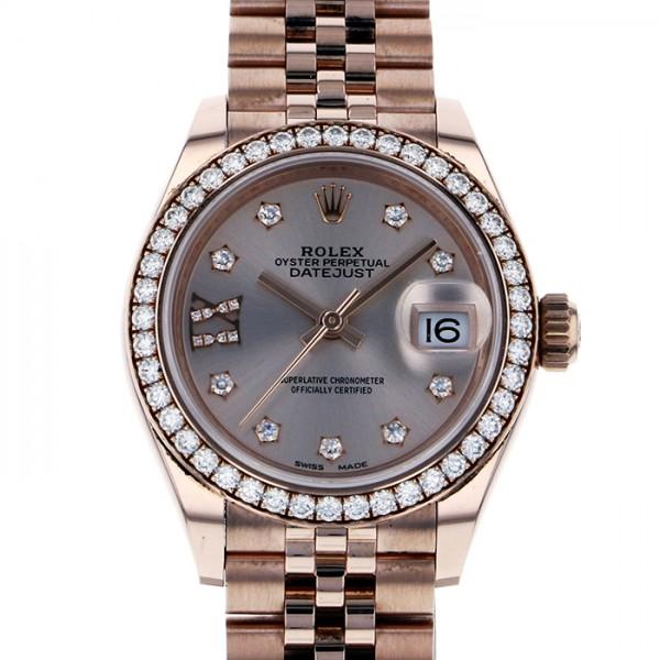 ロレックス ROLEX デイトジャスト 279135RBR ピンク文字盤 メンズ 腕時計 【中古】