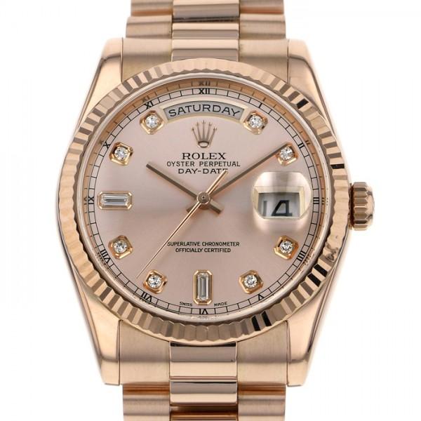 ロレックス ROLEX デイデイト 118235A ピンク文字盤 メンズ 腕時計 【中古】
