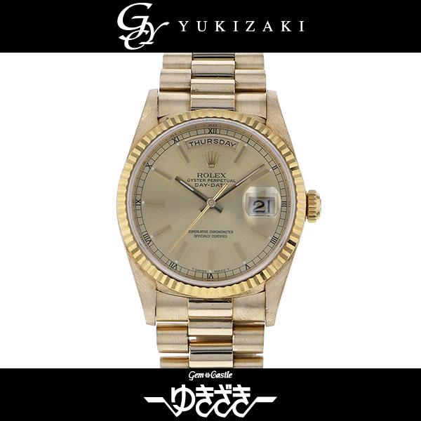 ロレックス ROLEX デイデイト 18238 シャンパン文字盤 メンズ 腕時計 【中古】