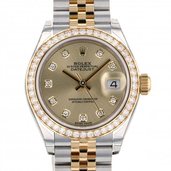 ロレックス ROLEX デイトジャスト 28 279383GRBR シャンパン文字盤 レディース 腕時計 【新品】