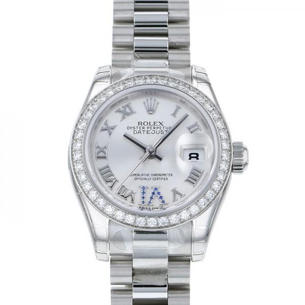 ロレックス ROLEX デイトジャスト ベゼルダイヤ 179136 シルバーローマ(VIサファイア)文字盤 レディース 腕時計 【新品】