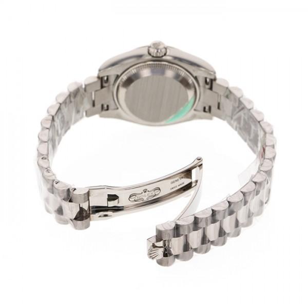 ロレックス ROLEX デイトジャスト 179179NGS ホワイトシェル/サファイア文字盤 レディース 腕時計 【新品】