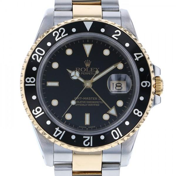 ★日本の職人技★ ロレックス ROLEX GMTマスター II 16713 ブラック文字盤  腕時計 メンズ, MASTERPIECE 06129ffc