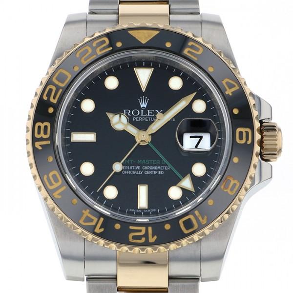 ロレックス ROLEX GMTマスター II 116713LN ブラック文字盤 メンズ 腕時計 【中古】