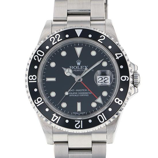 ロレックス ROLEX GMTマスター スティックダイヤル 16710 ブラック文字盤 メンズ 腕時計 【中古】