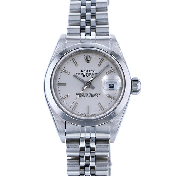 ロレックス ROLEX デイトジャスト 79160 シルバー文字盤 レディース 腕時計 【中古】