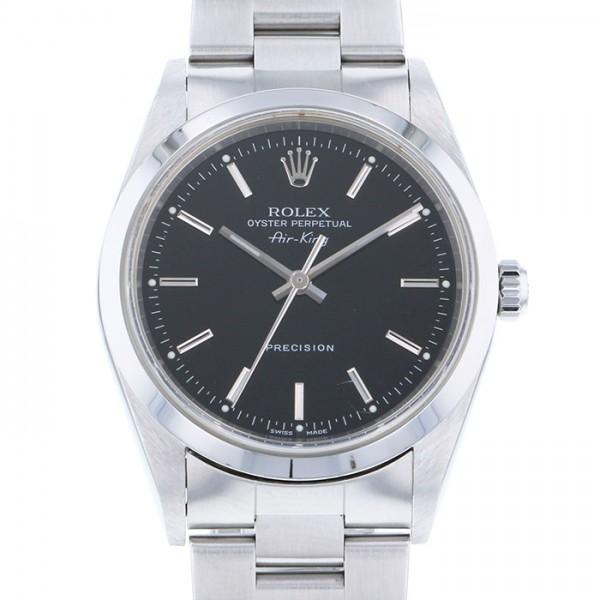 【全品 ポイント10倍 4/9~4/16】ロレックス ROLEX エアキング 14000M ブラック文字盤 メンズ 腕時計 【中古】