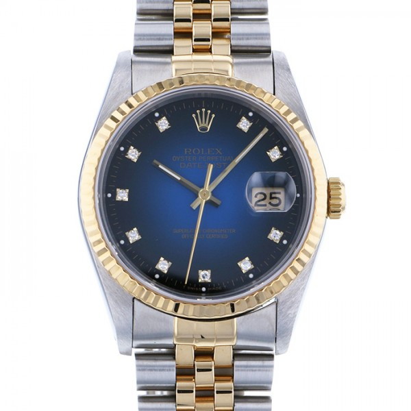 ロレックス ROLEX デイトジャスト 16233G ブルーグラデーション文字盤 メンズ 腕時計 【中古】