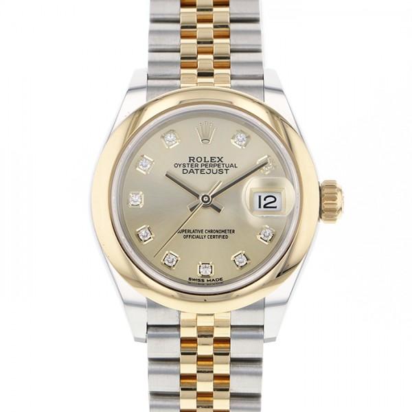 ロレックス ROLEX デイトジャスト 28 279163G シャンパン文字盤 レディース 腕時計 【中古】