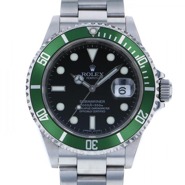 ロレックス ROLEX サブマリーナ デイト 16610LV ブラック文字盤 メンズ 腕時計 【中古】