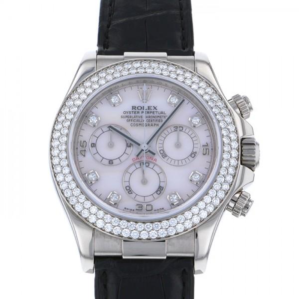 ロレックス ROLEX デイトナ ベゼルダイヤ 116589RBR ピンク文字盤 メンズ 腕時計 【中古】