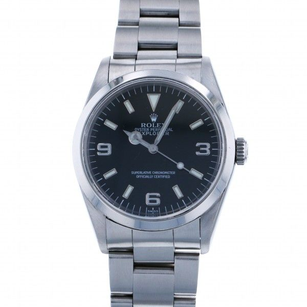 ロレックス ROLEX エクスプローラー I 14270 ブラック文字盤 メンズ 腕時計 【中古】
