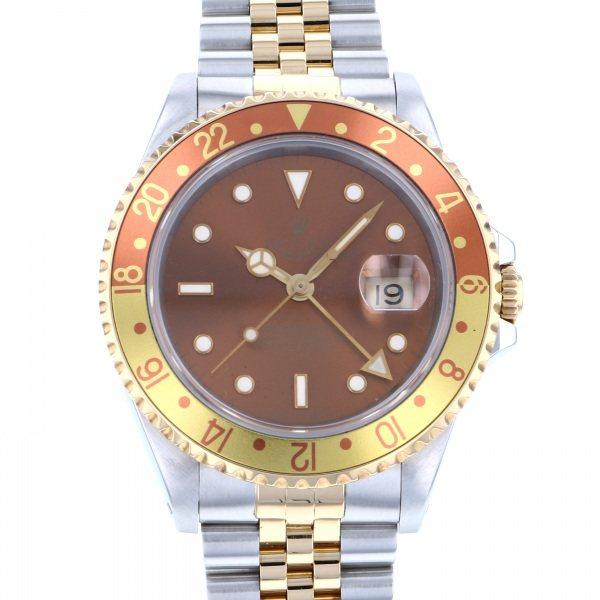 ロレックス ROLEX GMTマスター 16713 ブラウン文字盤 メンズ 腕時計 【中古】