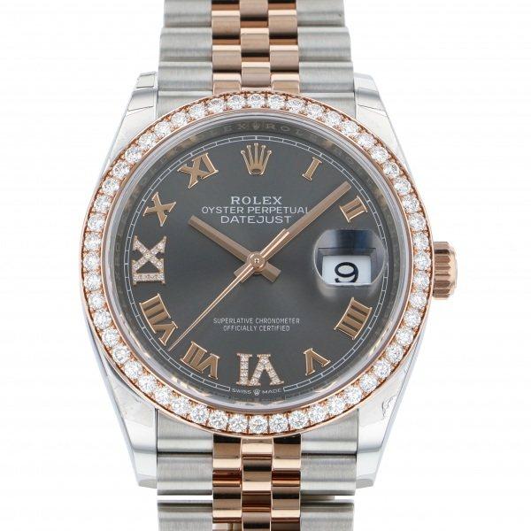 ロレックス ROLEX デイトジャスト 126281RBR グレー文字盤 メンズ 腕時計 【新品】