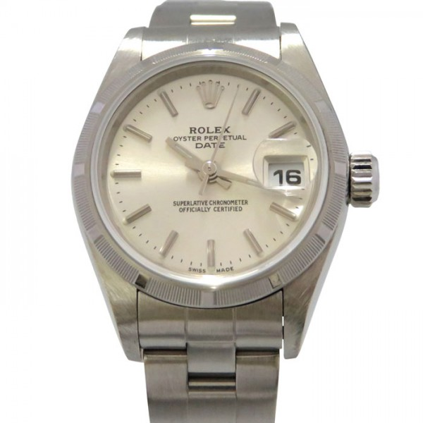 ロレックス ROLEX オイスターパーペチュアル デイト 79190 シルバー文字盤 レディース 腕時計 【中古】