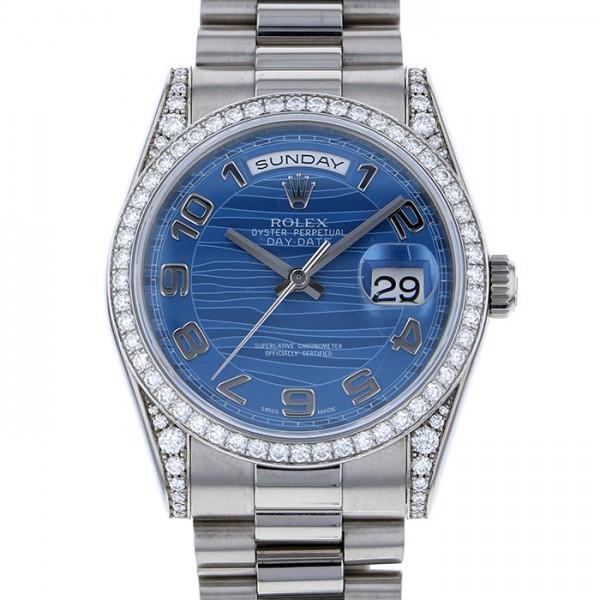 ロレックス ROLEX デイデイト 118389 ブルーアラビア文字盤 メンズ 腕時計 【中古】