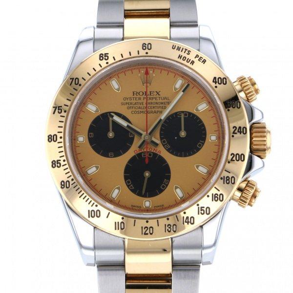 ロレックス ROLEX デイトナ 116523 シャンパン/ブラック文字盤 メンズ 腕時計 【中古】