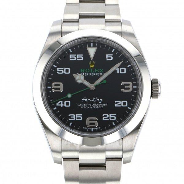 【全品 ポイント10倍 4/9~4/16】ロレックス ROLEX エアキング 116900 ブラック文字盤 メンズ 腕時計 【中古】