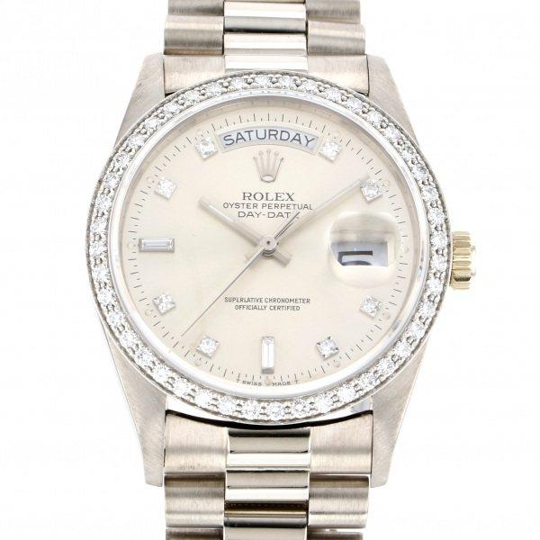 【期間限定ポイント5倍 5/5~5/31】 ロレックス ROLEX デイデイト 18049A シルバー文字盤 メンズ 腕時計 【中古】