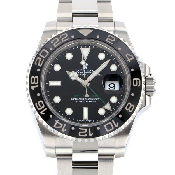 【破格値下げ】 ロレックス ROLEX GMTマスター II 116710LN ブラック文字盤  腕時計 メンズ, ここあーる fd7cbedd