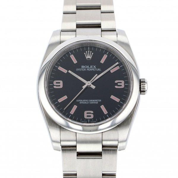 【全品 ポイント10倍 4/9~4/16】ロレックス ROLEX オイスターパーペチュアル 116000 ブラック文字盤 メンズ 腕時計 【中古】